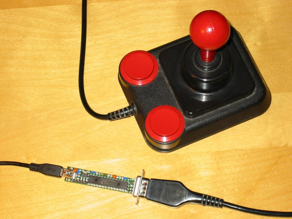 Joysticks USB en Commodore 64
