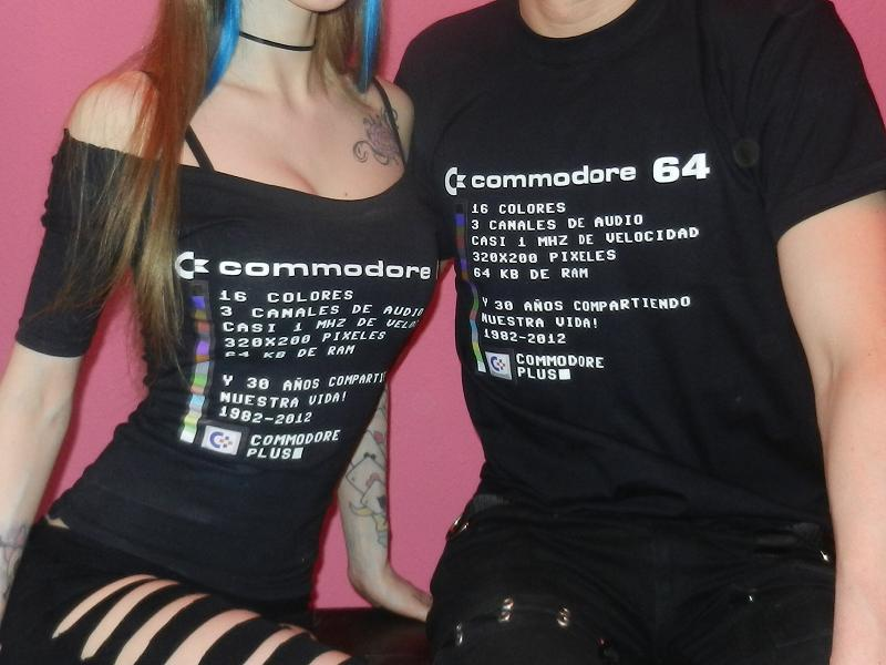 Camisetas Commodore Plus