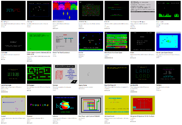 Resultados ZX Spectrum BASIC Game Jam